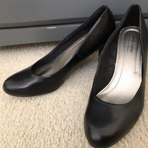 Comfort Plus Short Black Heels